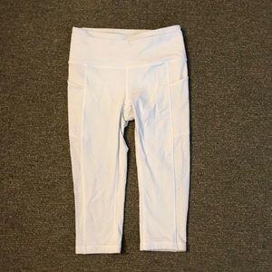 White lulu lemon leggings!!